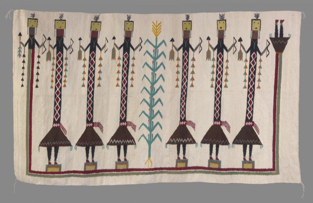Diné (Navajo), Rug with yeti figures