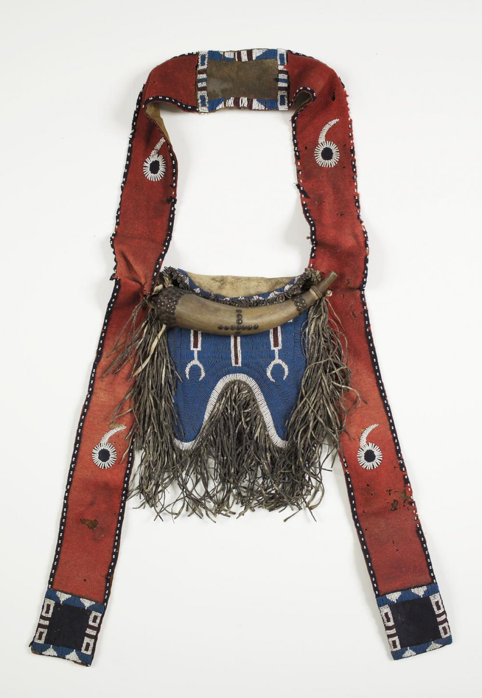 Comanche, Bandolier bag and powder horn