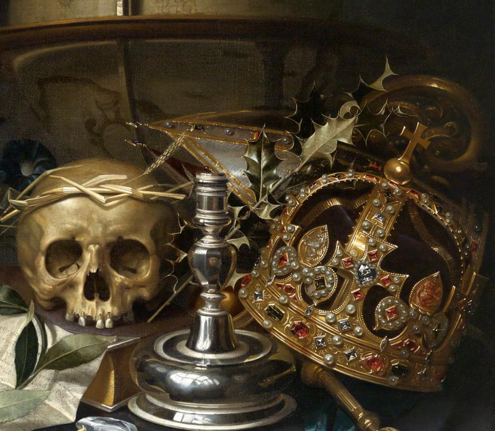 Hendrick Andreissen, Vanitas still-life (detail)