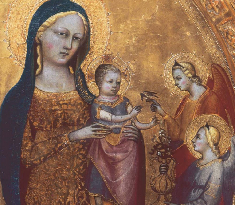 Lippo d'Andrea (Italian, Florentine, ca. 1370/71–1451) Virgin and Child Enthroned with Saints John the Baptist and Nicholas of Bari (detail)