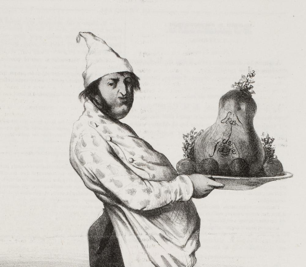 Honore Daumier, Mr. Montaugibet, en patissier-gâte-sauce