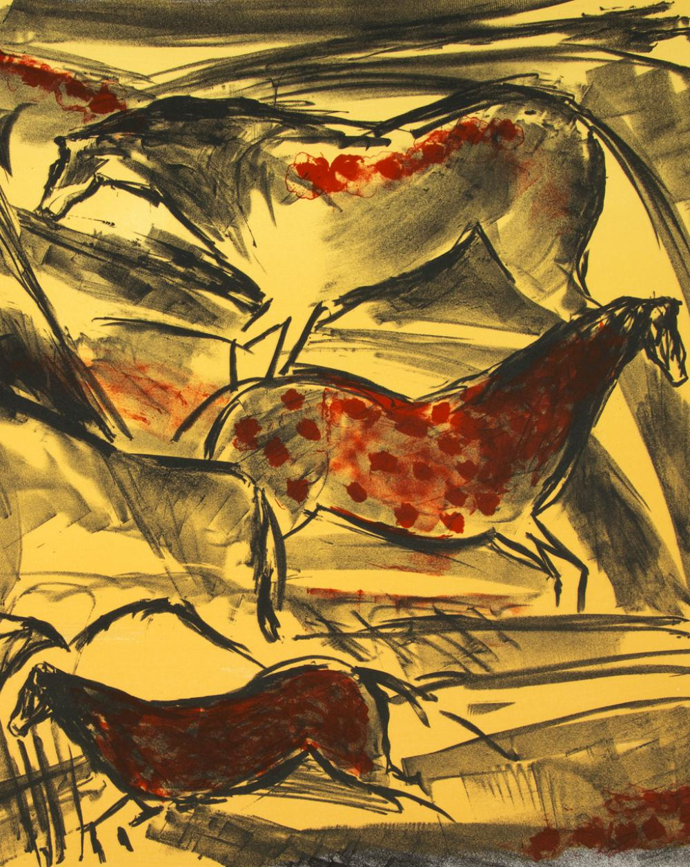 Elaine de Kooning (American, 1920-1989), Untitled, from The Lascaux Series, 1984