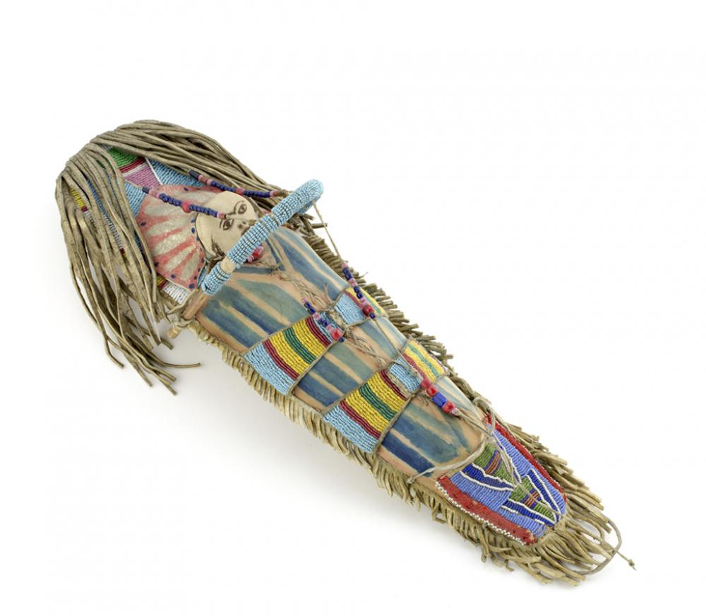 Unknown artist (Apsáalooke), Toy cradleboard and doll, late 19th or early 20th century