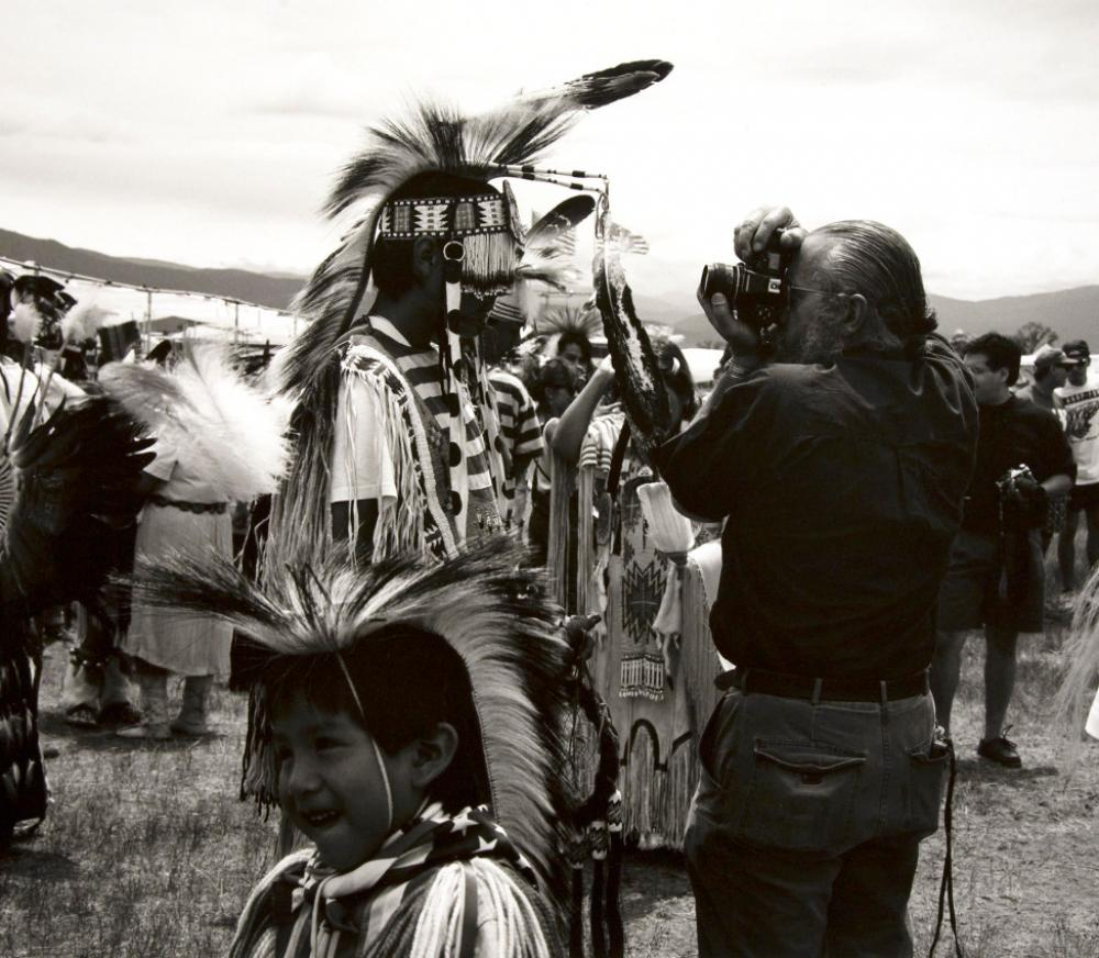 Zig Jackson (Mandan, Hidatsa, Arikara, American, b. 1957), Indian Photographing Tourist Photographing Indian, #1 of 4, Taos, New Mexico (detail), 1992 negative, 2018 print
