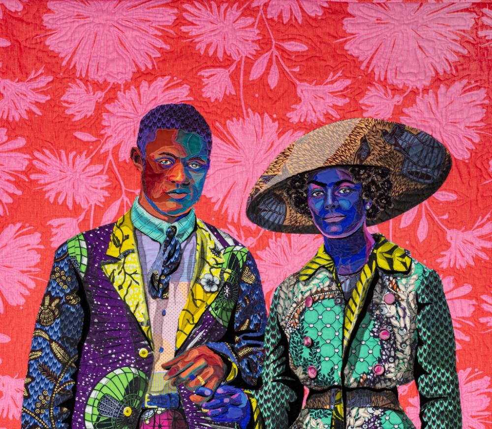 Bisa Butler (American, b. 1975), Broom Jumpers (detail), 2019