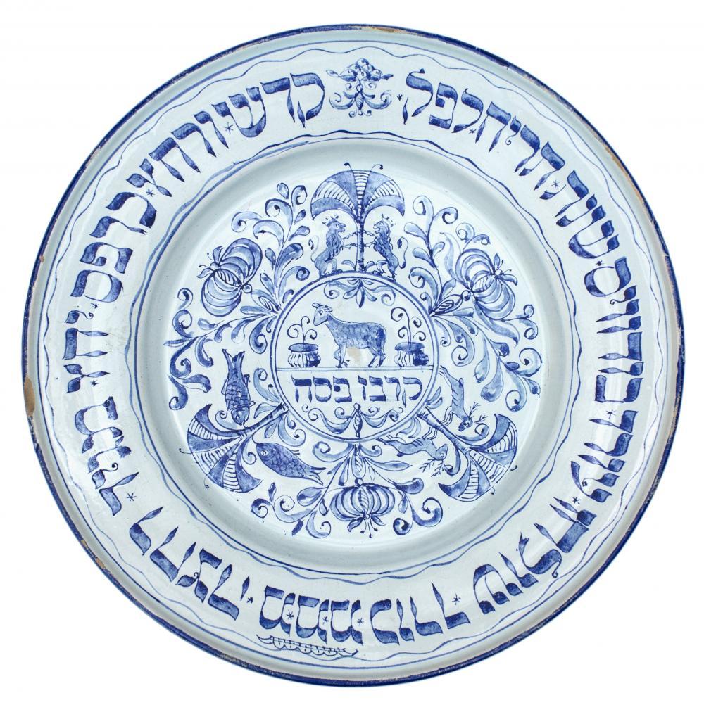 Seder plate, 1858