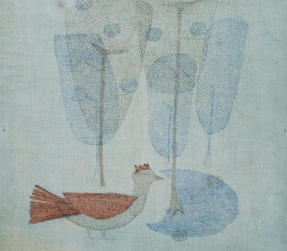 Keiko Minami (Japanese, active France, 1922-2004), L'Oiseau Couronne [The Crowned Bird] (detail), ca. 1954-1958
