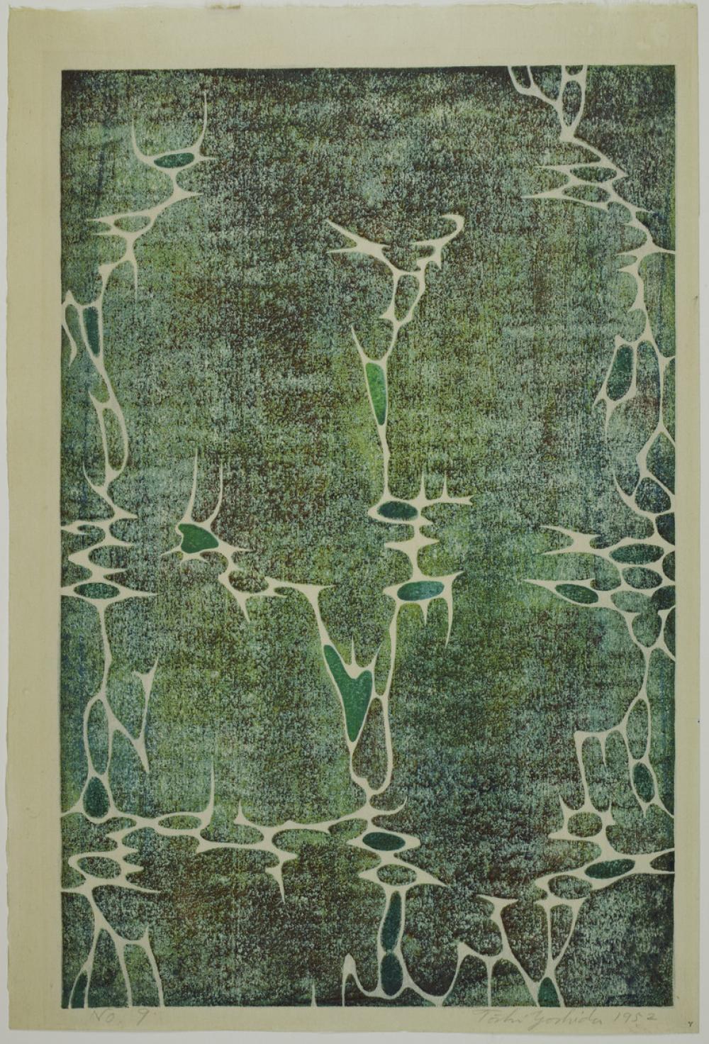 Yoshida Toshi (Japanese, 1911-1995), Untitled, No. 9, 1952