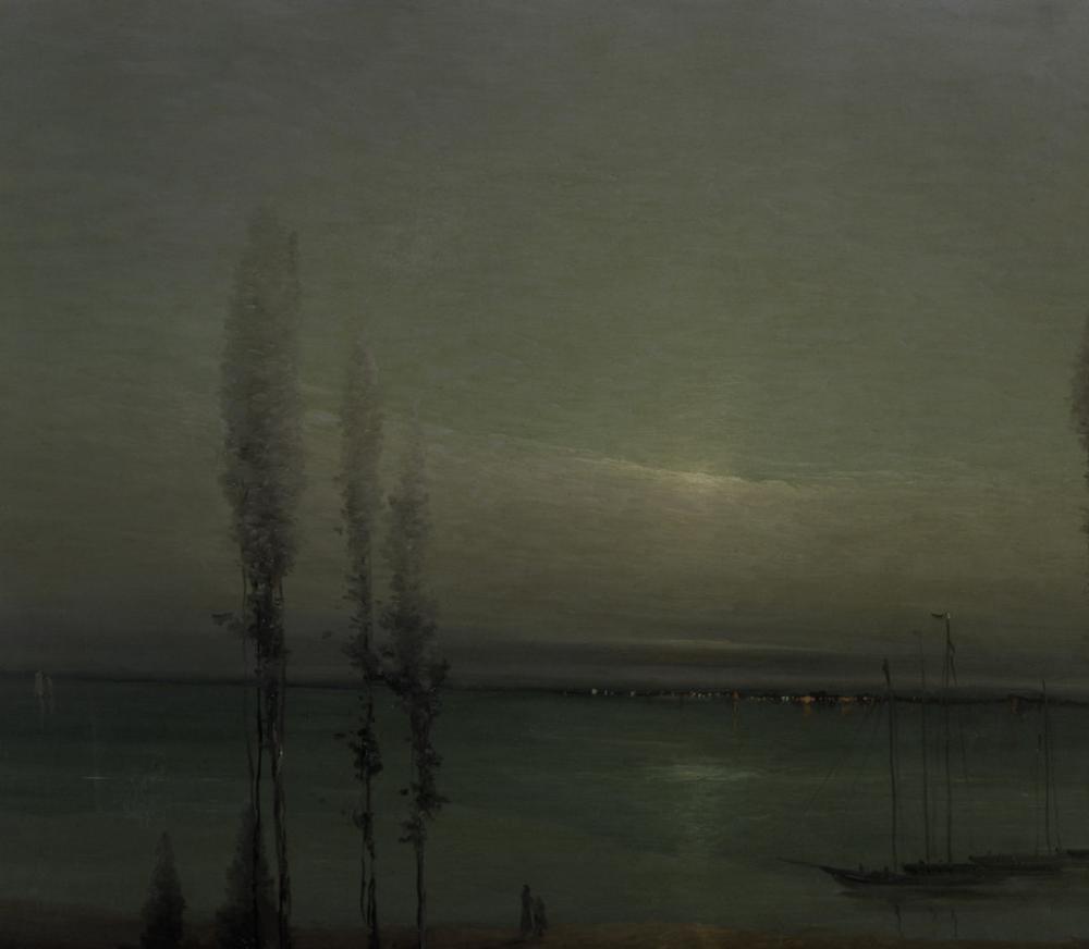 Leon Dabo (American, 1868-1960), Moonlight Waterscape (detail), ca. 1900-1910