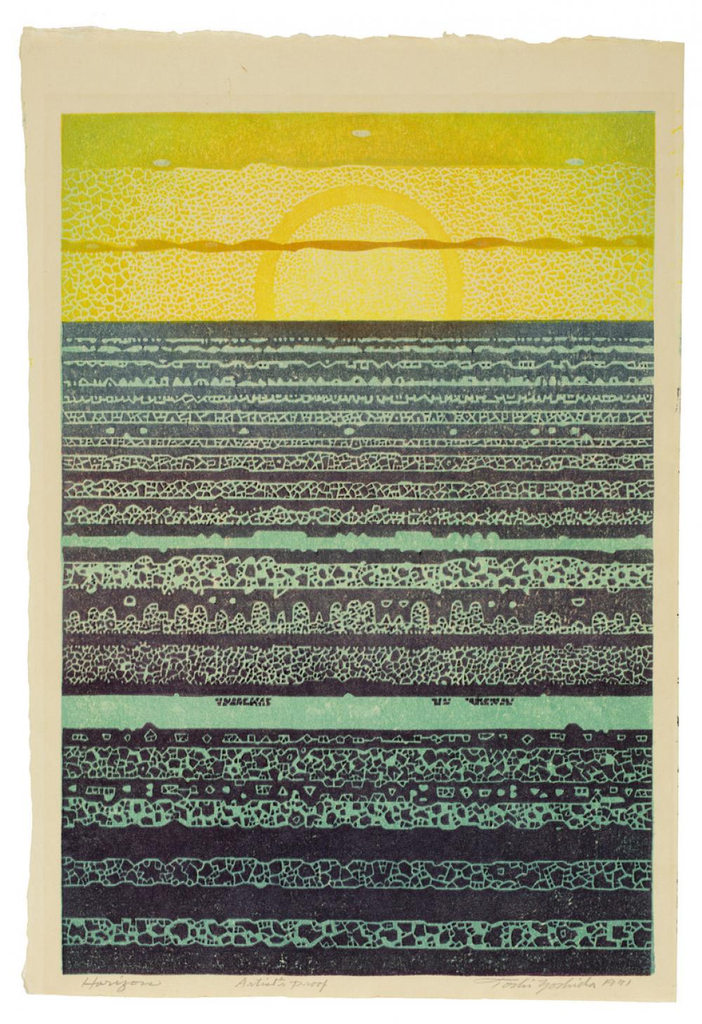 Yoshida Toshi (Japanese, 1911-1995), Horizon, 1970