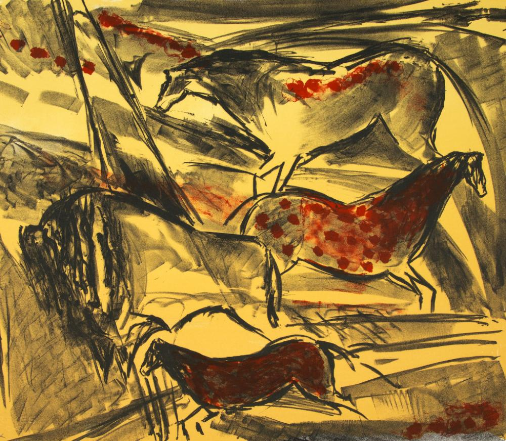 Elaine De Kooning (American, 1918-1989), Untitled, from the Lascaux Series (detail), 1984