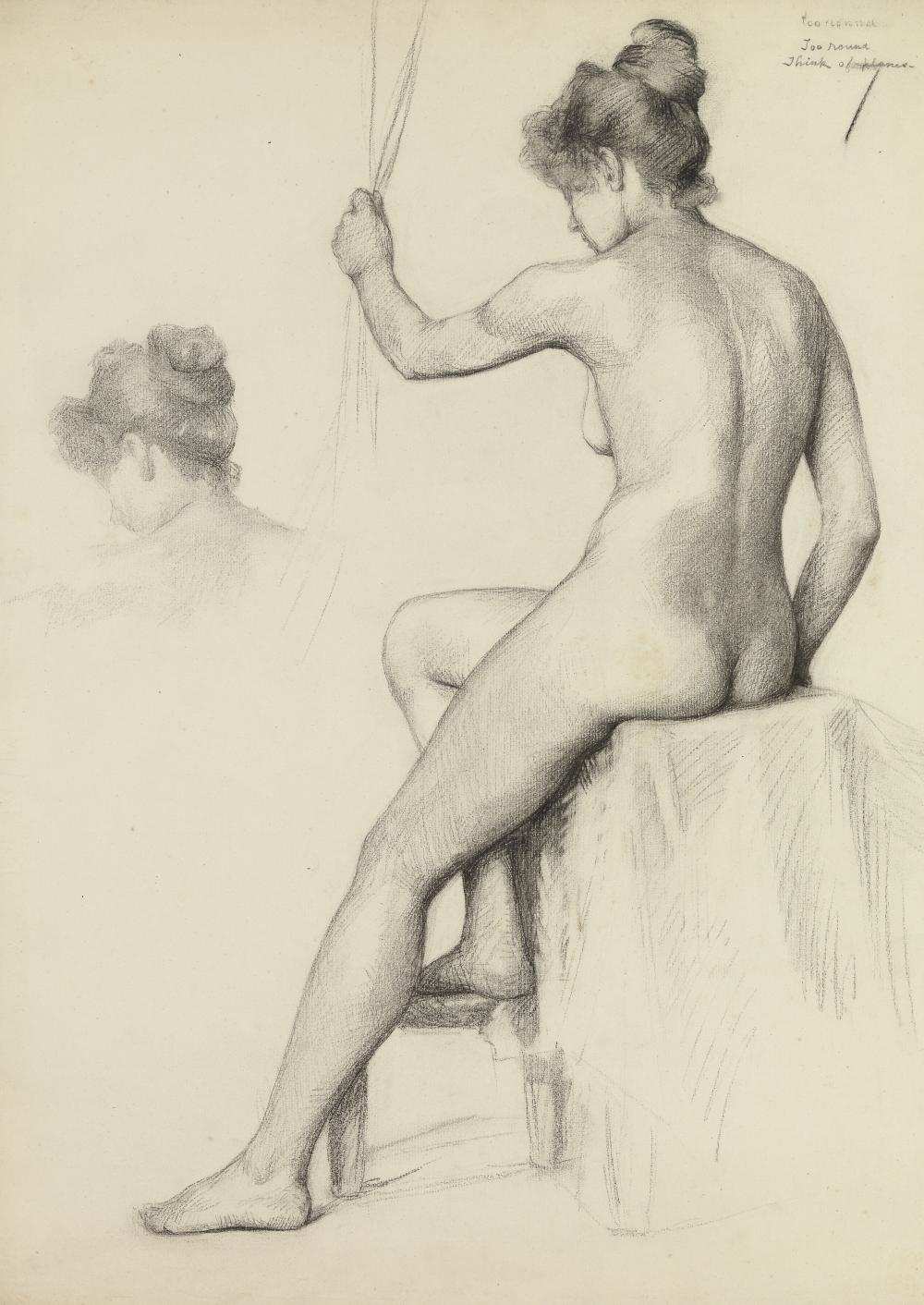 Minerva Josephine Chapman, Seated Nude Woman
