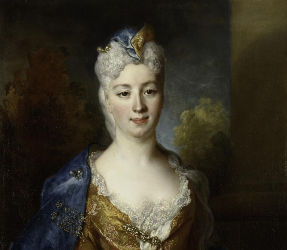 Nicolas de Largillière (French, 1656-1746), Marie Elisabeth Desiree de Chantemerle, Comtesse de Hergh (detail), 1715