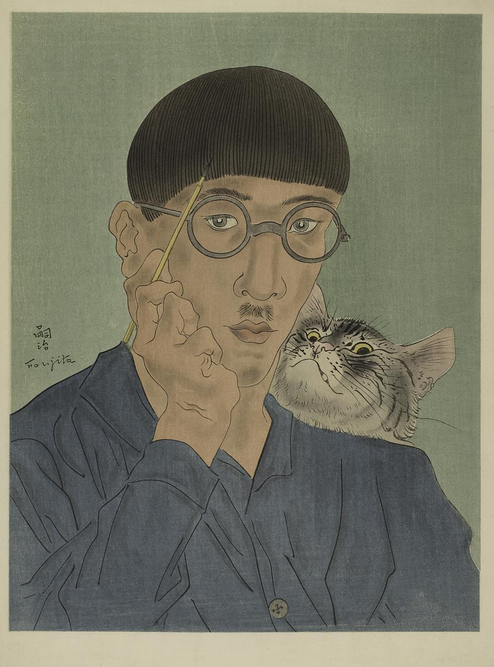 Leonard Tsugouharu Foujita, French, born Japan (1886-1968), Cat, 1927