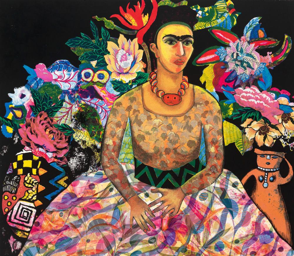Miriam Schapiro (American, b. Canada, 1923-2015), Frida and Me (detail), 1990
