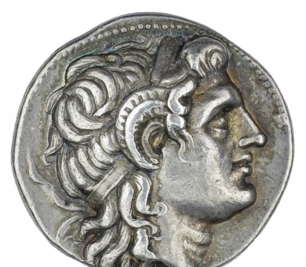 Minted under Lysimachus (Greek; Hellenistic), Tetradrachm of Deified Alexander III, the Great (detail), 360-281 BCE