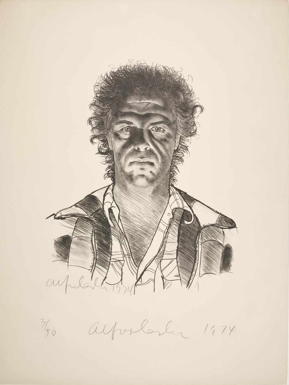 Alfred Leslie, Self Portrait, 1974