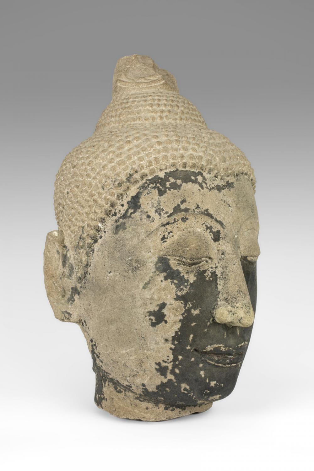 Maker Unknown (Thai), Head of Buddha, 14th-15th century (Ayutthaya Period)