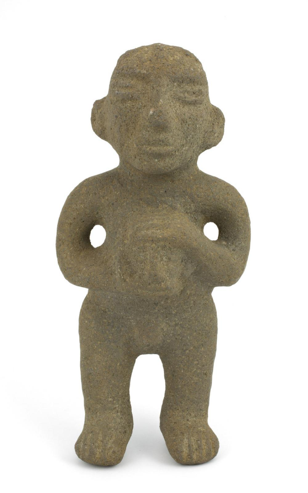 Maker unknown, Figure holding trophy head, 1100-1500