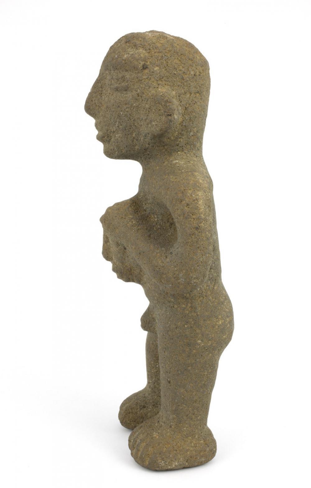 Maker unknown, Figure holding trophy head, 1100-1500