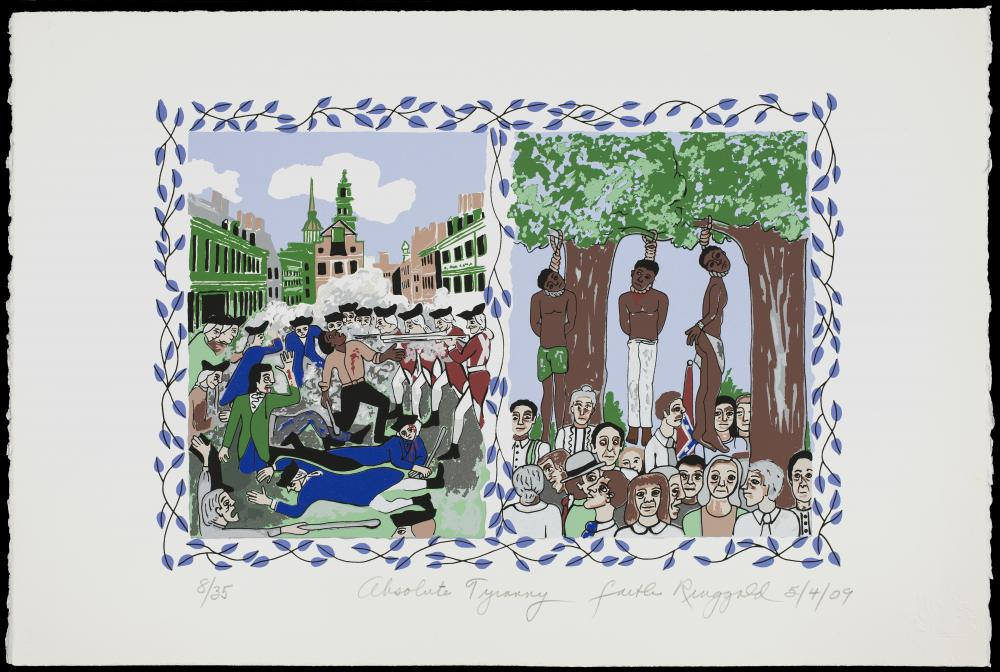 Faith Ringgold, Absolute Tyranny (from the portfolio Declaration of Freedom and Independence), 2009