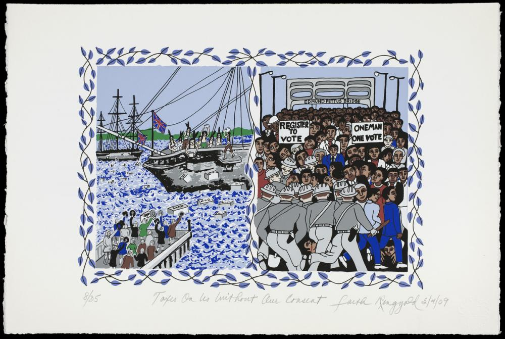 Faith Ringgold (American, b. 1930), Taxes on us Without our Consent (from the portfolio Declaration of Freedom and Independence), 2009