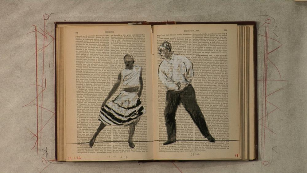 William Kentridge (South African, b. 1955), Tango for Page Turning (still), 2012-2013