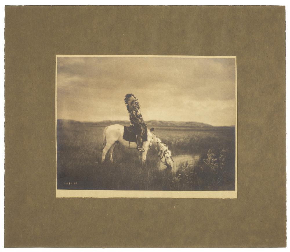 Edward Sheriff Curtis (American, 1868-1952), Sioux sub chief Red Hawk - Oasis in the Badlands, South Dakota, 1904