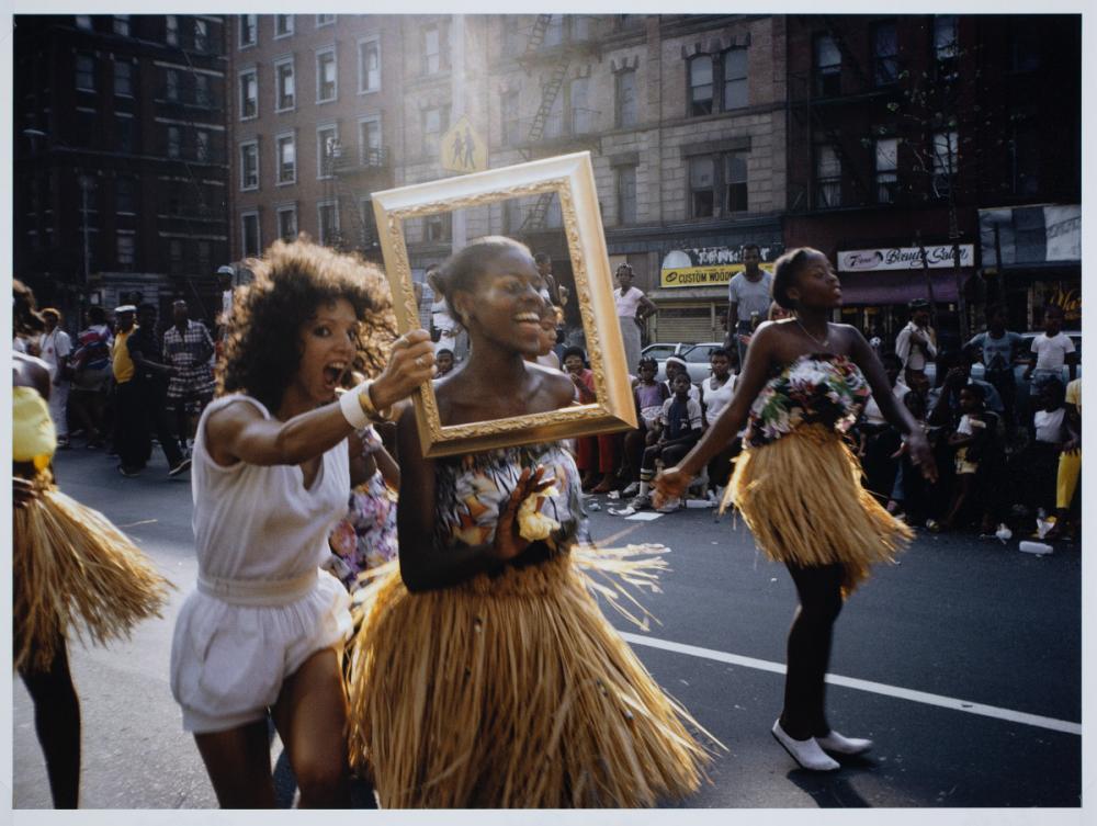Lorraine O'Grady (American, b. 1934), Art Is...(Dancer in Grass Skirt), 1983 image capture / 2009 print