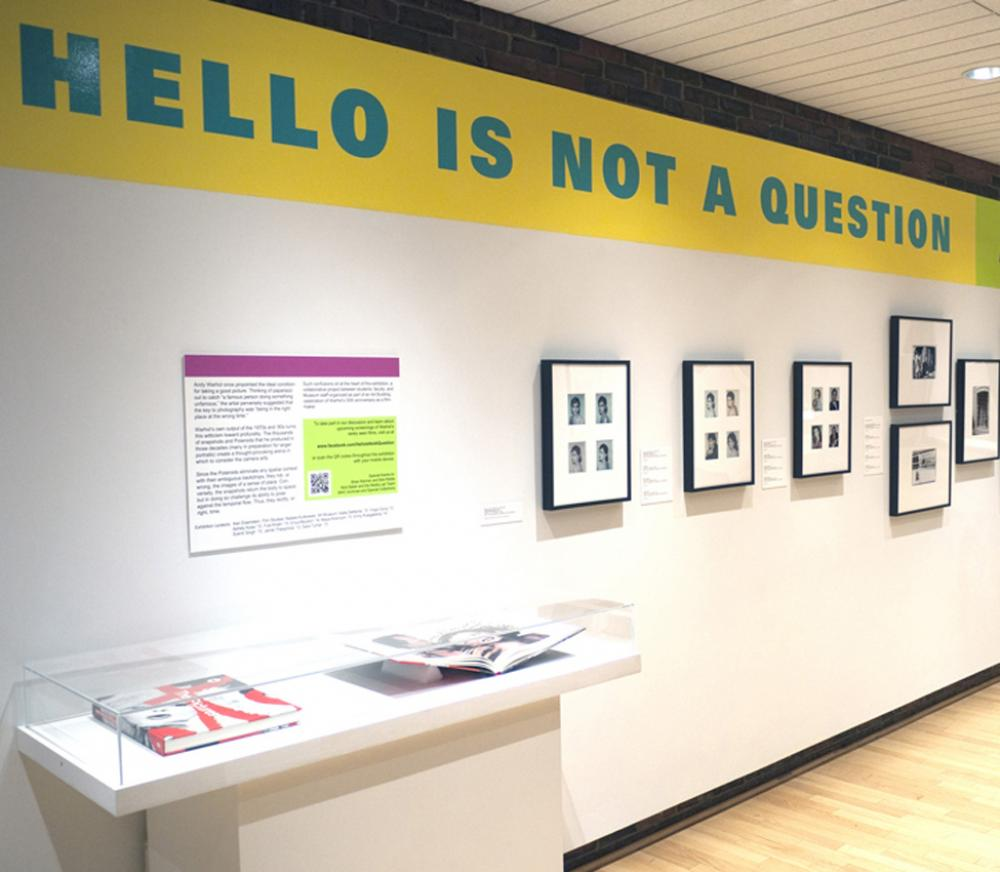Hello is Not a Question installation view