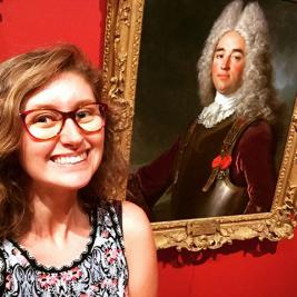 Staff Katie Allen & Aaron Miller are practicing up on their selfies for today's Museum Mania selfie challenge, happening at the @mhcartmuseum from 2-3. First years, take a break from the heat and come enjoy some cookies, lemonade, and free swag. We can't wait to see you soon! #mountholyoke2022 #mhc2022 #welcomemohome @mtholyoke @mhcstudentlife