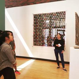 "Reminder to stop by the Museum tomorrow at 1:30 PM for a tour led by Student Guide Rachel Kim '21. Rachel's tour, ""Private Lives in the Public Eye,"" will explore the relationship of museums as public institutions to the intimate, personal works they exhibit. We hope to see you there! @mhcartmuseum #studentguide #studentengagement #teachingmuseum"