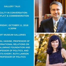 Happening TODAY at 4:30! Join us for the first in a lively series of faculty conversations offered in conjunction with the exhibition Major Themes: Celebrating Ten Years of Teaching with Art, on view through June 21, 2020. @mhcartmuseum #gallerytalk #faculty #interdisciplinarylearning