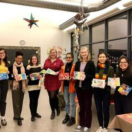 "Afternoon field trip to the @carlemuseum! @mhcartmuseum interns received a fantastic tour of the exhibit ""Our Voice: Celebrating the Coretta Scott King Illustrator Awards"" and were even able to make their own prints. A great end to the week if you ask us! #ericcarle #museums10 #fridayfunday #fieldtrip"