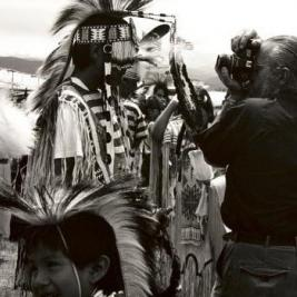 "Be sure to stop by the @mhcartmuseum this Thursday, November 15, at 4:30 PM for a Gallery Talk by artist Zig Jackson. A professor of photography at the Savannah College of Art and Design and a member of the Mandan, Hidatsa, Arikara Nation, Jackson challenges popular and deeply ingrained conceptions of Native Americans through his photographs. Jackson will speak about his work featured in the Museum's Collection Spotlight ""Photographing Native America,"" curated by Mac Chambers '19 and on view until December 16, 2018. We hope you can attend! Image: ""Indian Photographing Tourist Photographing Indian, #1 of 4, Taos, New Mexico"" (detail), 1992 negative/2018 print, Courtesy Andrew Smith Gallery. #gallerytalk #zigjackson #artisttalk"