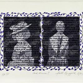 "Happy #internationalwomensday from the @mhcartmuseum! We're honored to have work by so many incredible women artists in our collection, including this 2009 print ""And Women?"" by American artist Faith Ringgold (b. 1930). This work exposes the inconsistencies and omissions in America's most famous founding document. On the right, a portrait of Sojourner Truth is overwritten with the text of her speech"