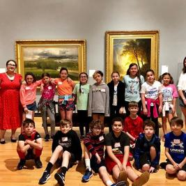 The galleries are abuzz this week as we welcome Mosier Elementary School's 4th grade classes to the #mhcartmuseum! Matisse Education Fellows Jessica Lazzar '21 & Sommer Byers '21 have been leading close looking sessions and helping students create their own self-portraits. No better way to kick off the summer! . . . #schoolvisit #fieldtrip #studentengagement @sommerbyers @jlazzar21