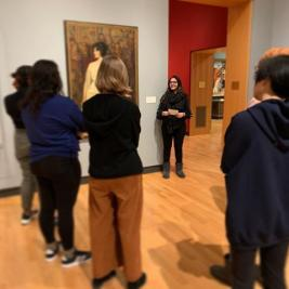 👁 The first Sightlines Tour of 2020 is this upcoming Saturday 2/8 @ 1:30pm. Student Guide Sarah Malik '20 (pictured above!) will lead a tour focusing on the portrayal of women throughout history and in different art forms.
