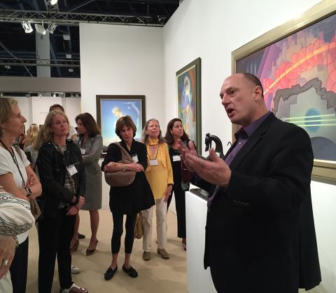 John Stomberg discusses a 1932 painting by Raymond Jonson at Art Basel Miami Beach