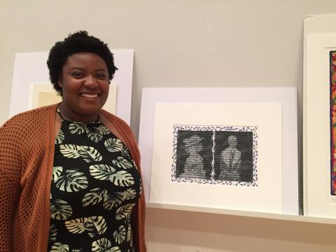Chrislyn Laurore '16 presented on a work by Faith Ringgold entitled And Women?
