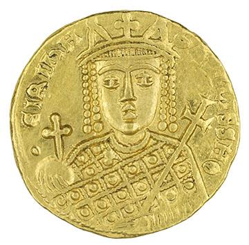 Irene of Athens (minted under), Byzantine, Solidus of Irene