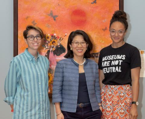 Nina Frank, Tricia Paik, and Stephanie Sparling Williams