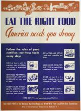 Unknown (designer); United States Office of Defense Health and Welfare Services (publisher) (American), Eat the Right Food, America Needs You Strong, 1941-1945