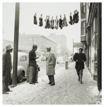 Wayne F. Miller (American, 1918-2013), Rabbits for sale, from the series The Way of Life of the Northern Negro, Chicago, ca. 1945 negative; 1999 print