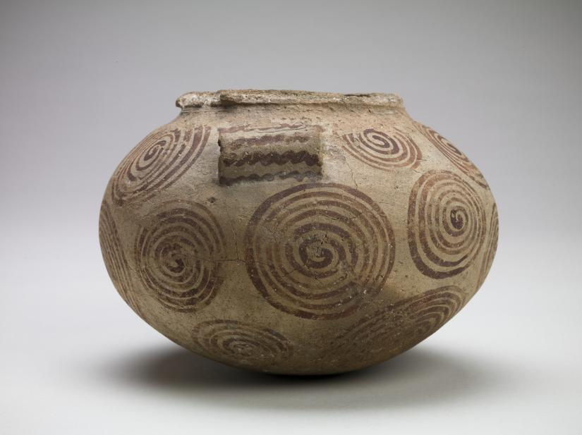 Egyptian, Jar with spiral motif