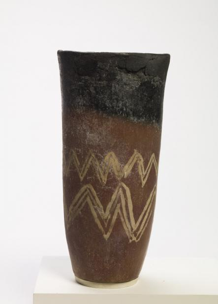 Egyptian, Jar with zigzag motif
