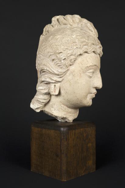 Gandharan, Head of Bodhisattva or celestial being