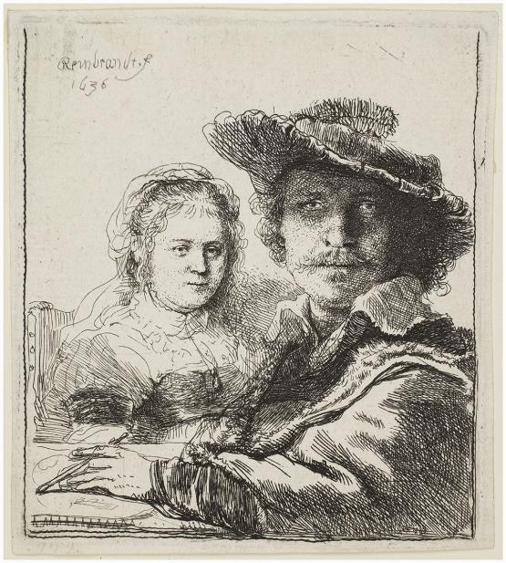 Rembrandt van Rijn, Self-Portrait with Saskia
