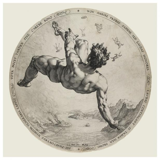 Goltzius, Hendrick; after Cornelis van Haarlem; Fall of Phaeton
