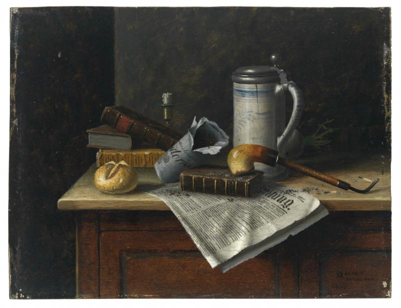 Harnett, William Michael, Still Life with Pipe